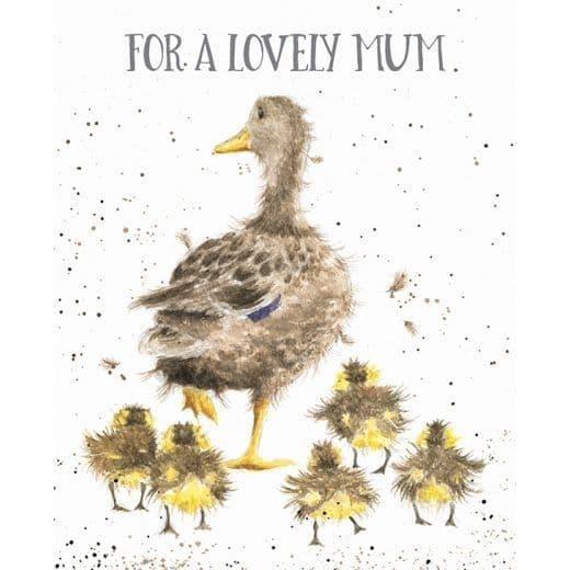 Wrendale Design Lovely Mum Duck & Ducklings Blank Inside Greetings Card 14x17cm